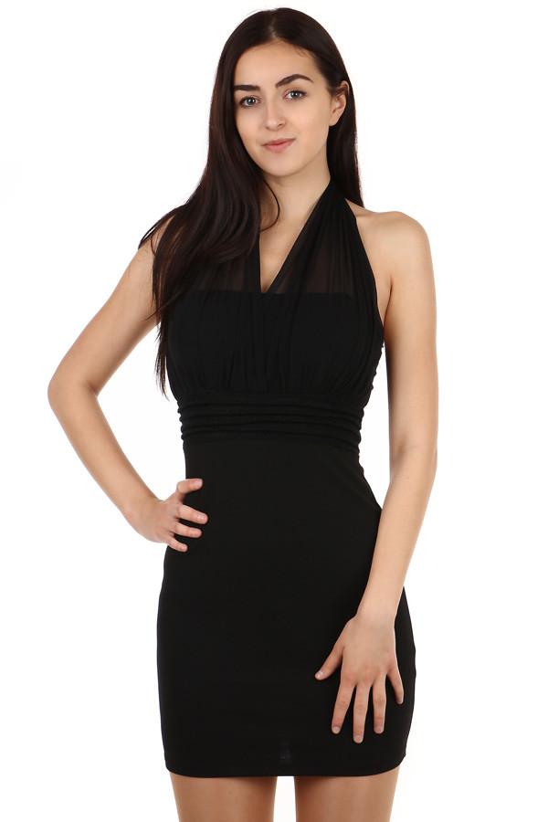 0d33cc36b Mini šaty so zaväzovaním za krk   Glara.sk