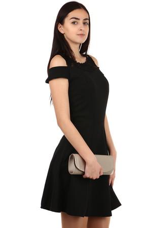 e55ed0ea412e Čierne voľnočasové spoločenské šaty xl