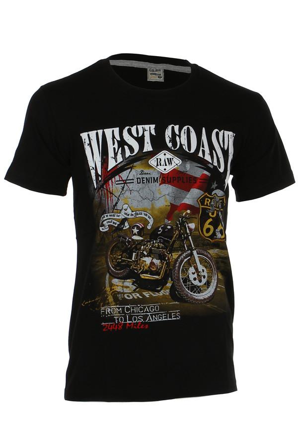 8b33b112928d Bavlnené tričko s krátkym rukávom a potlačou motorky