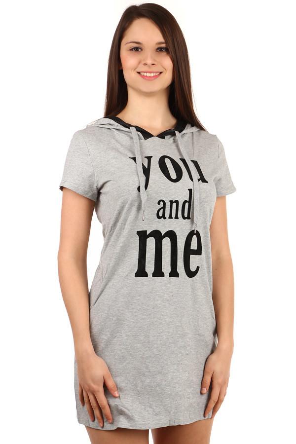 Dámske letné krátke tričkové šaty  e708989ad95