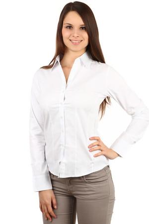 2e69df989346 Klasická biela košeľa s dlhým rukávom aj pre plnoštíhle