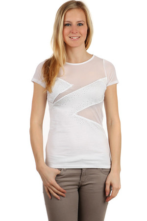 be6d7ac46 Luxusné krátke biele tričká s krátkym rukávom l | Glara.sk