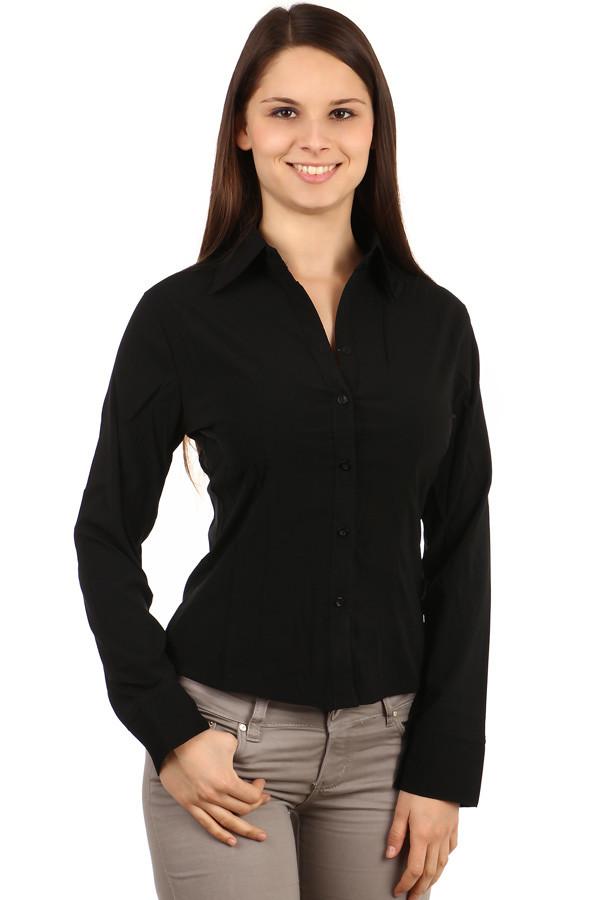 a8c756dd3900 Čierna business košeľa s dlhým rukávom