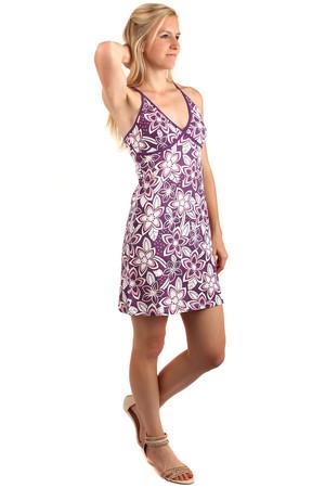 Letné krátke kvetované šaty s úzkymi ramienkami 1a2ddff1831