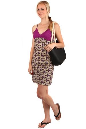 Dámske krátke plážové šaty s úzkymi ramienkami 2aeb7e1af2e