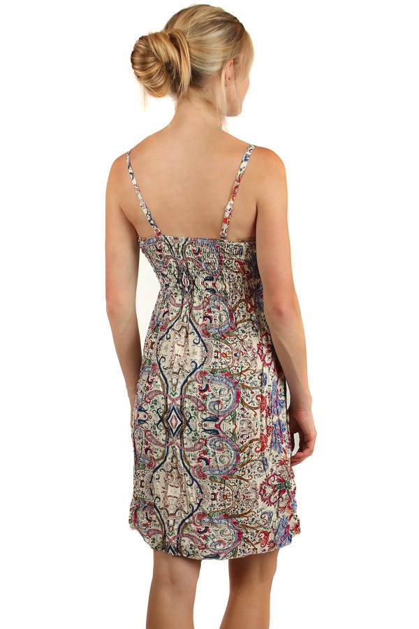 59c7ca5052f8 Letné krátke šaty v etno štýle s úzkymi ramienkami