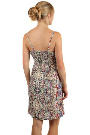 Letné krátke šaty v etno štýle s úzkymi ramienkami b8fc2a8924f