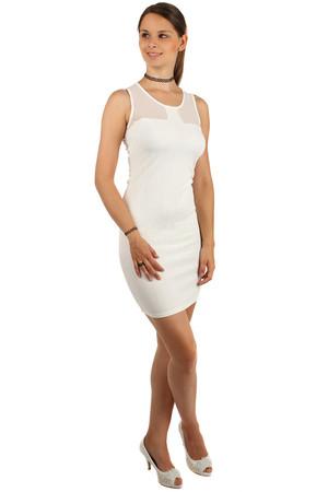 611a746cf0b2 Šaty s malými vzormi a priehľadnými ramienkami