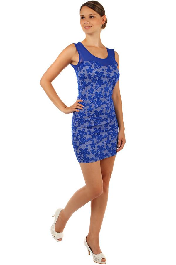 Kvetované šaty s úzkym pásom  ddd78cb1435