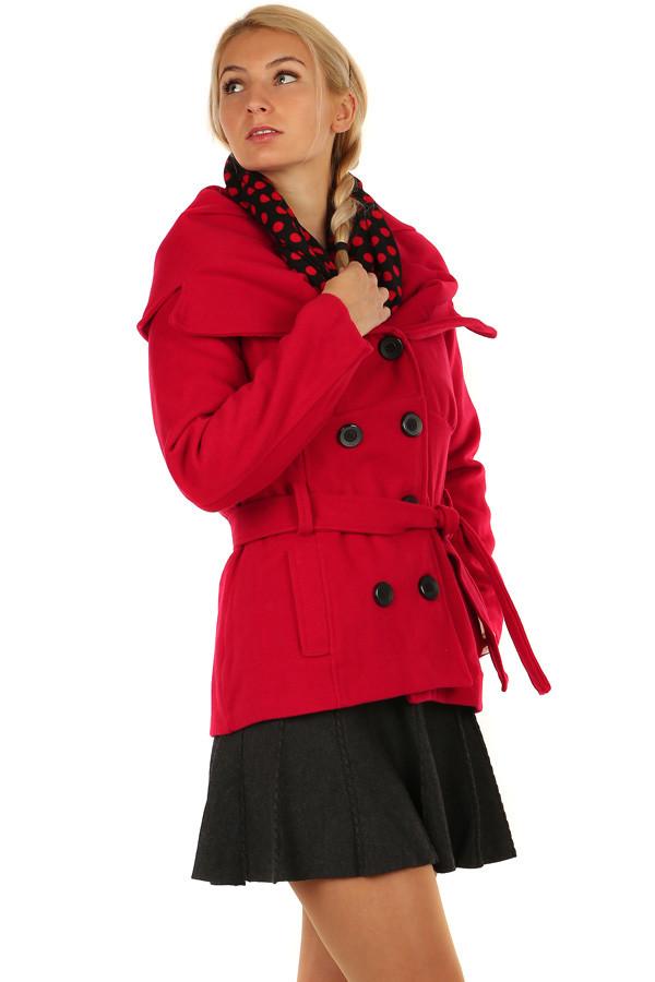 Kabát na gombíky s opaskom  b7fdc528181