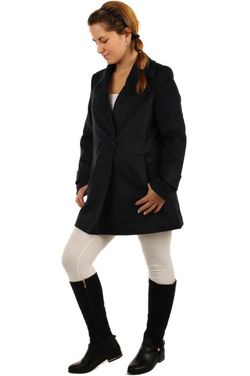 Objemný kabát na gombík  889b9e36c20