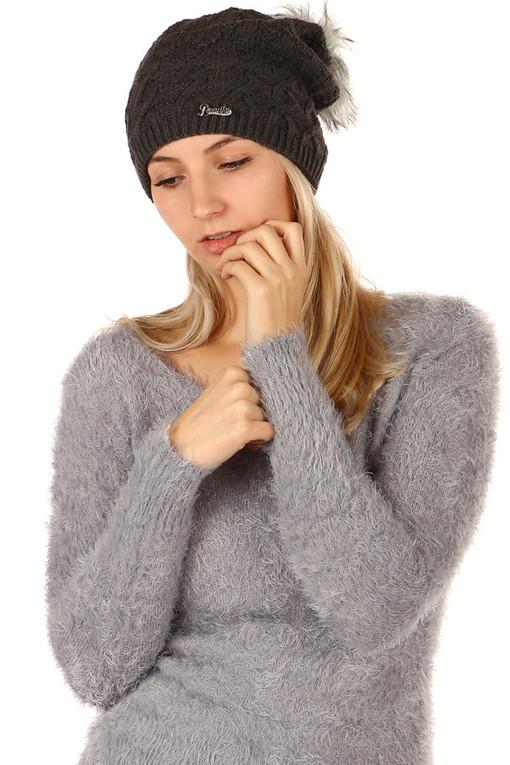 c9ae78b38 Zimná dámska čiapka s brmbolcom | Glara.sk