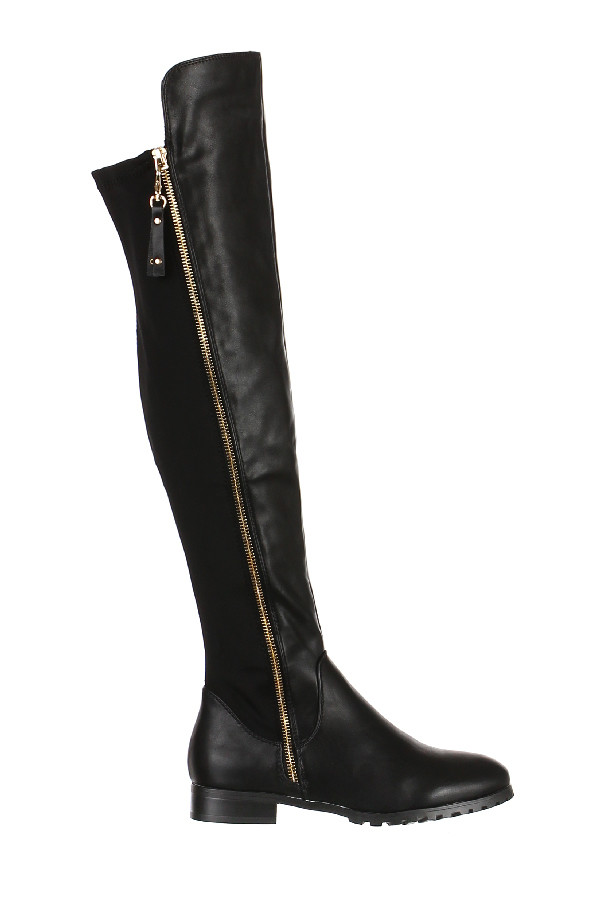 358eafa39777 Elegantné vysoké čižmy nad kolená