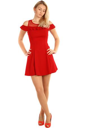 cbe7afea9b08 Krátke červené spoločenské šaty výpredaj