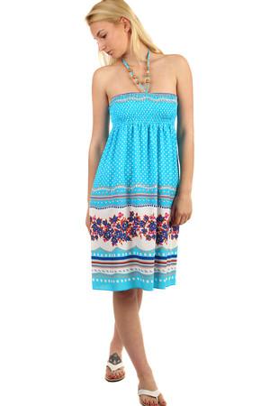 43d0514b05b9 Dámske bodkované midi letné šaty