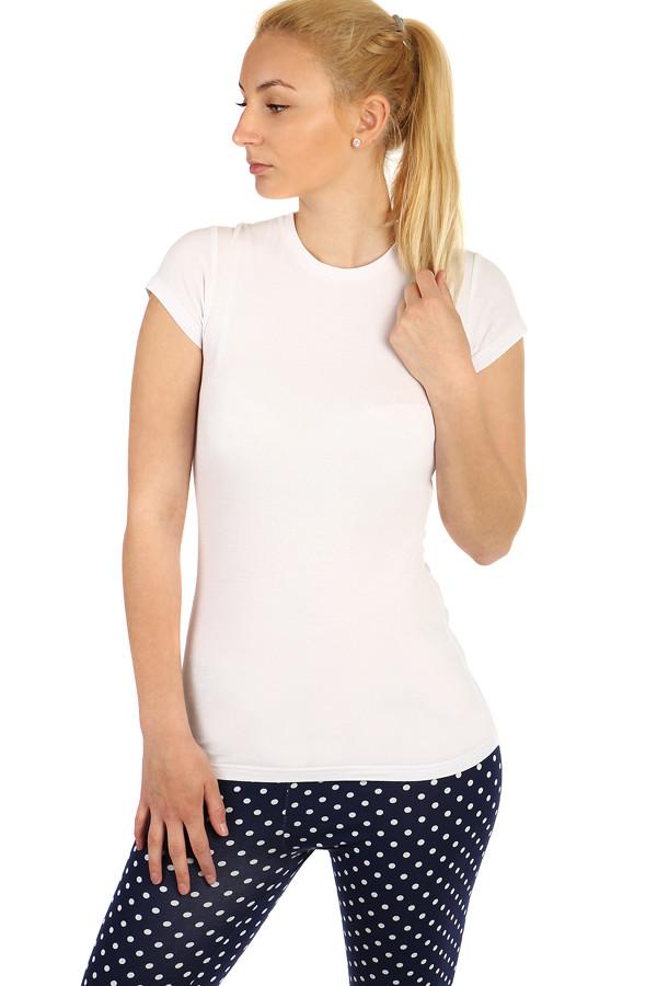0d763947c953 Jednofarebné dámske bavlnené tričko s krátkym rukávom