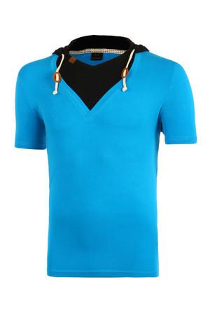 9a1e25d655e3 Dvojfarebné tričko s kapucňou a krátkym rukávom