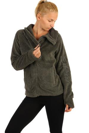 Dámska plyšová mikina na zips bez kapucne. 1b153a902d6