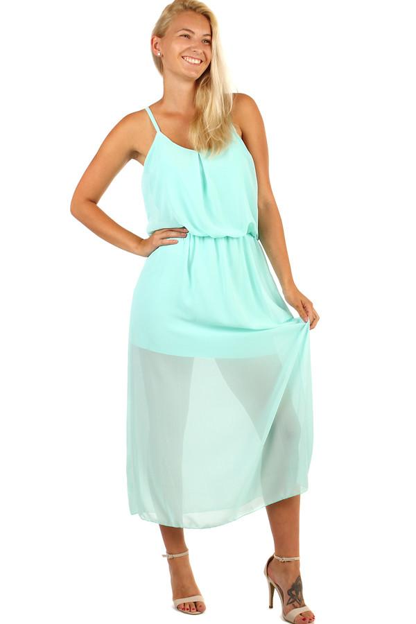99983461f577 Jednofarebné šifónové maxi šaty