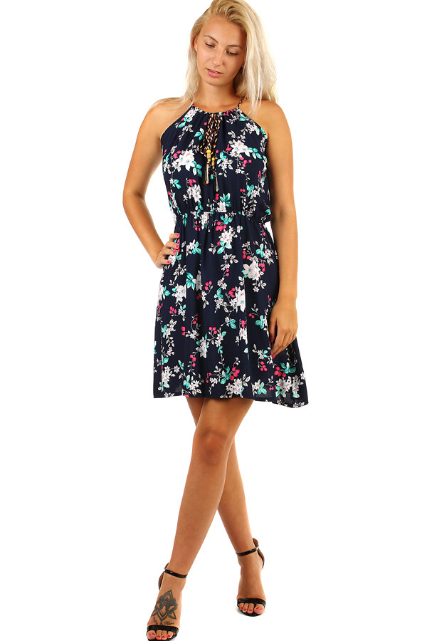 844500f3ed45 Letné krátke šaty s potlačou kvetov