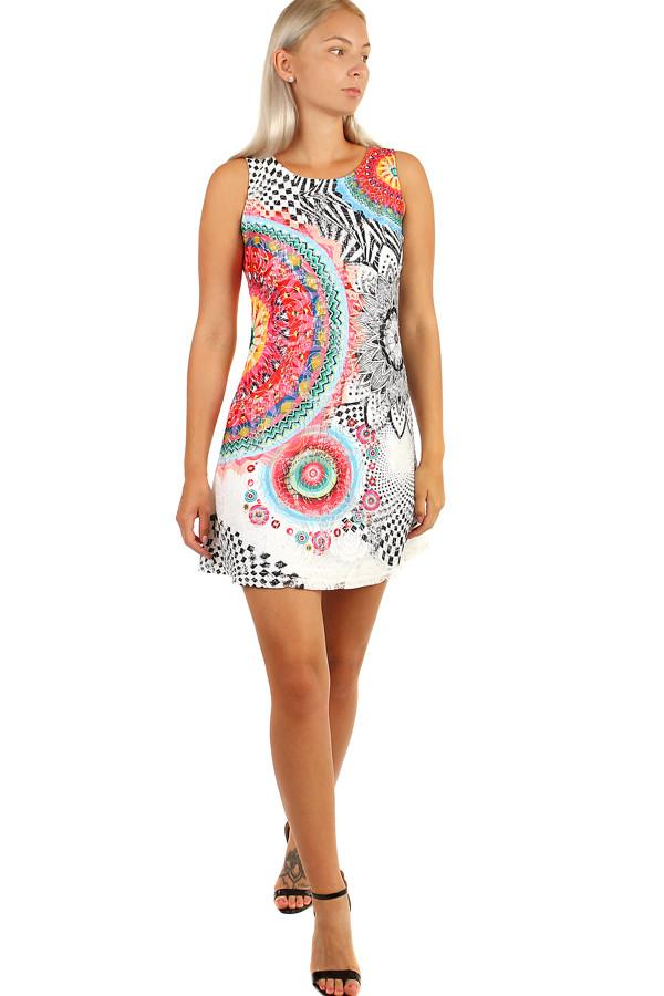 dae1b41f550f Dámske krátke letné šaty s ornamentami