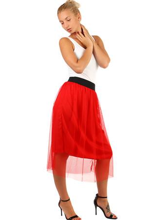 0beb417e0336 Midi červené sukne pre plnoštíhle