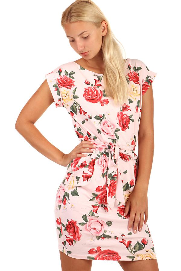 f57b2075c793 Bavlnené šaty s vreckami a kvetovanou potlačou