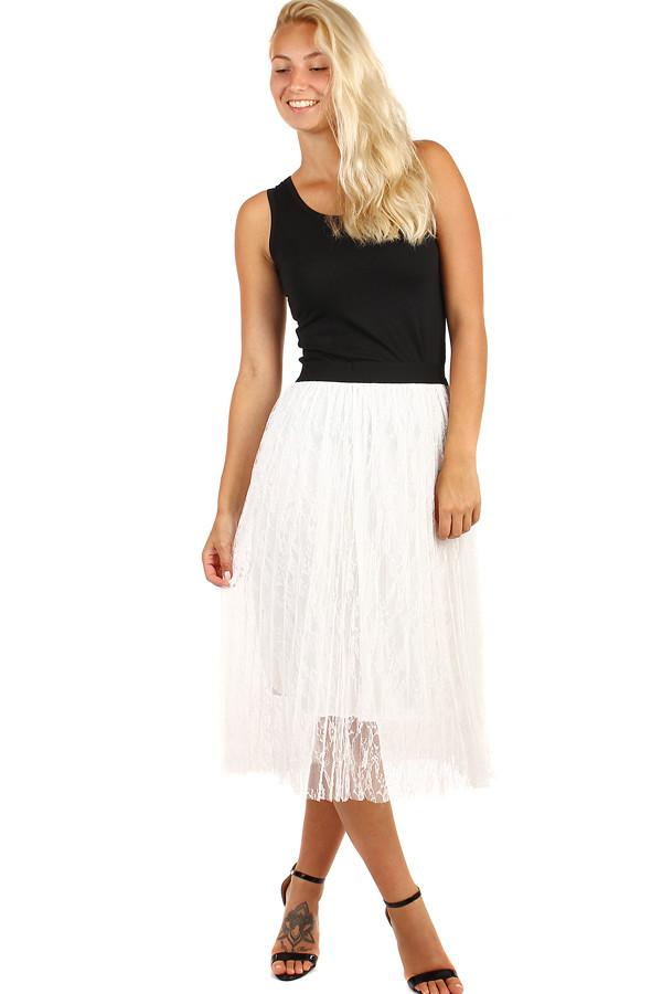 Dámska spoločenská tylová midi sukňa  737d7f946c