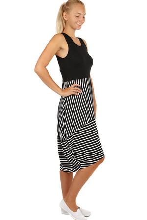 1e184553fd09 Dlhé letné šaty s prúžkami