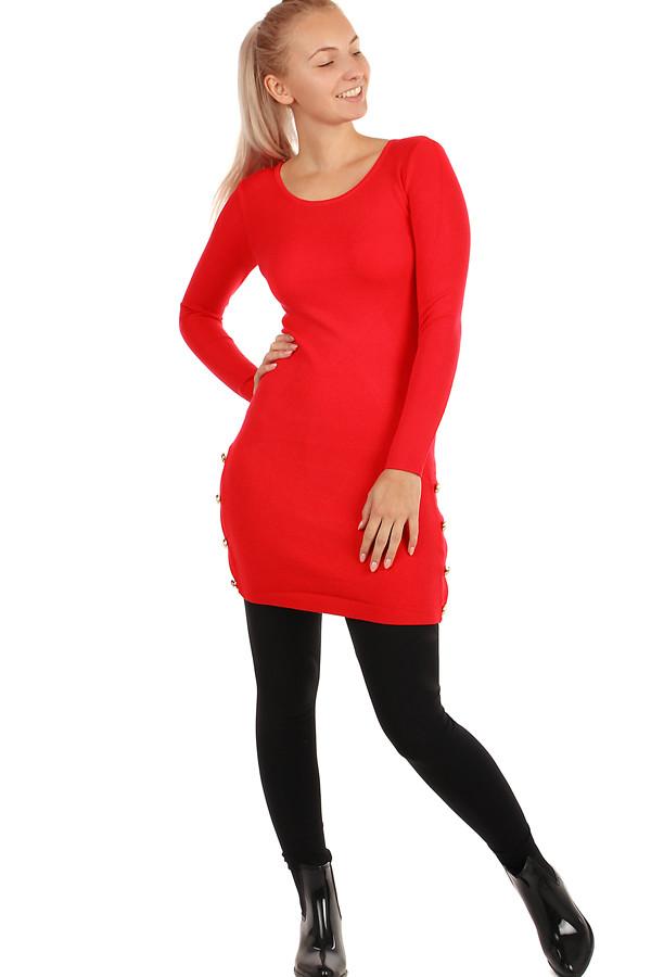 286f87974576 Krátke pletené šaty s dlhými rukávmi