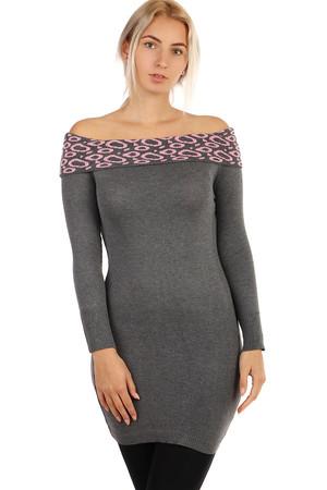 ceba9e9520f8 Úpletové dámske šaty s dlhým rukávom bez ramienok