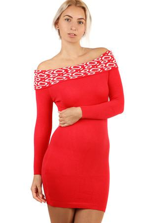 c753e70cdf Úpletové dámske šaty s dlhým rukávom bez ramienok