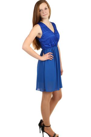 0f9e4a9e7707 Dámske modré šaty s čipkou bez rukávov xl výpredaj