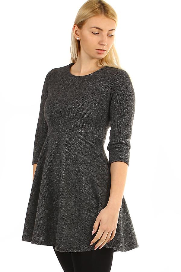 998753946ed2 Krátke pletené dámske šaty s trojštvrťovom rukávom