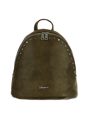 1dd8ccd669 Dámsky mestský koženkový batôžtek s ozdobnými gombíkmi