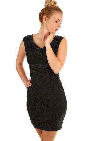 523cbde66340 Trblietavé večerné krátke šaty so širokými ramienkami