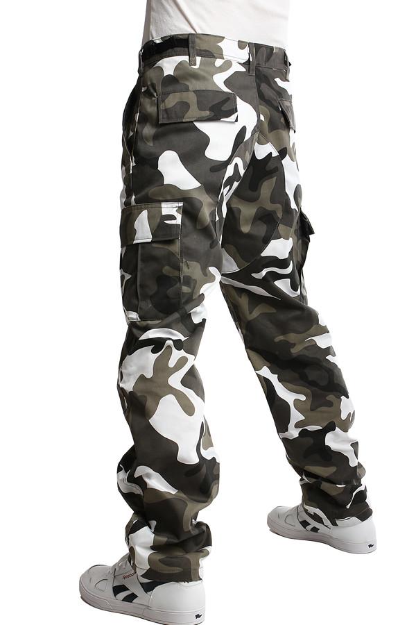 aabc7e7211 Pánske nohavice s army vzorom