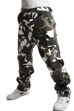 8ba1c0b5837f Pánske nohavice s army vzorom