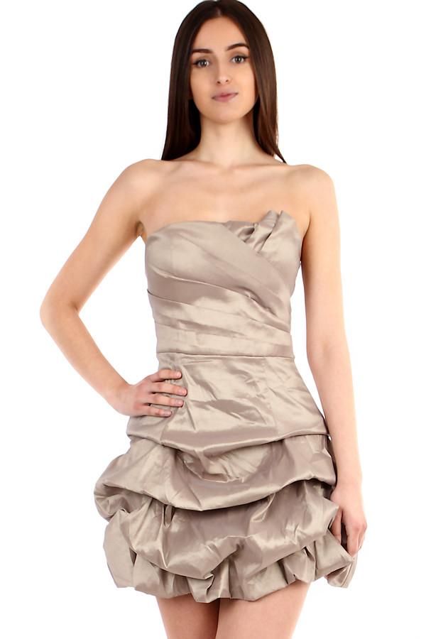 71e2f19aad9a Béžové dámske šaty bez ramienok na ples