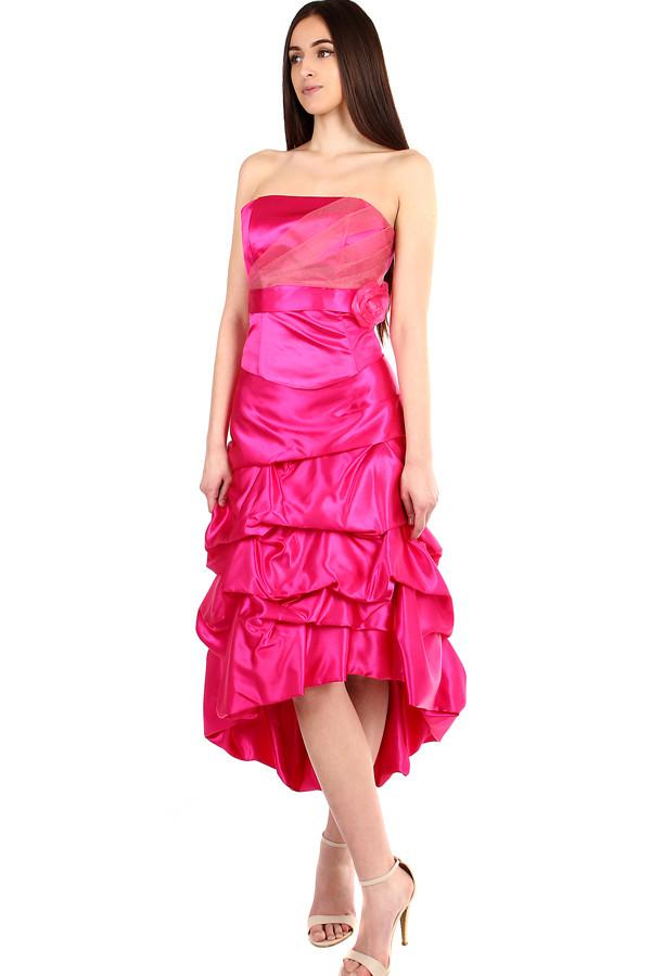 065c797ec9 Ružové korzetové šaty na ples