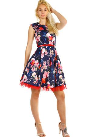 85ef602ff340 Dámske retro šaty s kvetinovým vzorom