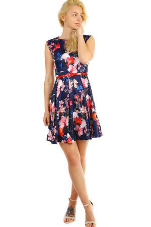 448fd176740b Dámske retro šaty s kvetinovým vzorom