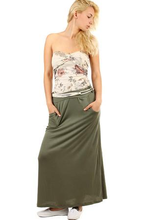 0a6e12d78a43 Dámska dlhá jednofarebná maxi sukňa