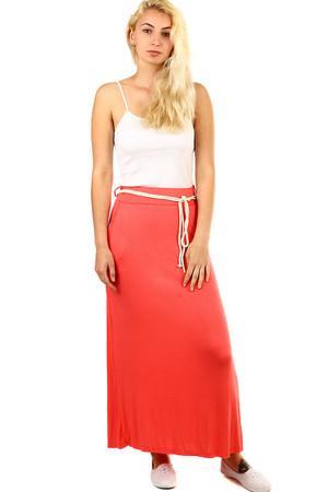 1c038bac56d3 Dámska dlhá jednofarebná maxi sukňa