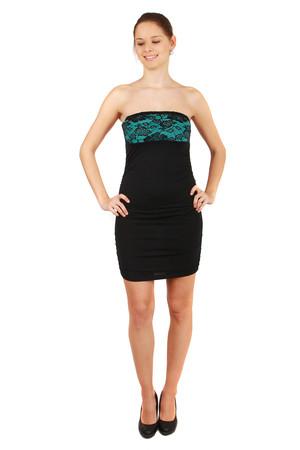 Lacné tyrkysové spoločenské šaty xl  a342e813eee