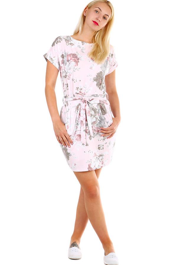 3619b954f711 Dámske krátke bavlnené šaty s potlačou