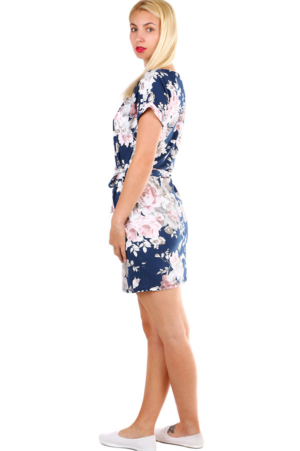 58d9782b23 Dámske krátke bavlnené šaty s potlačou