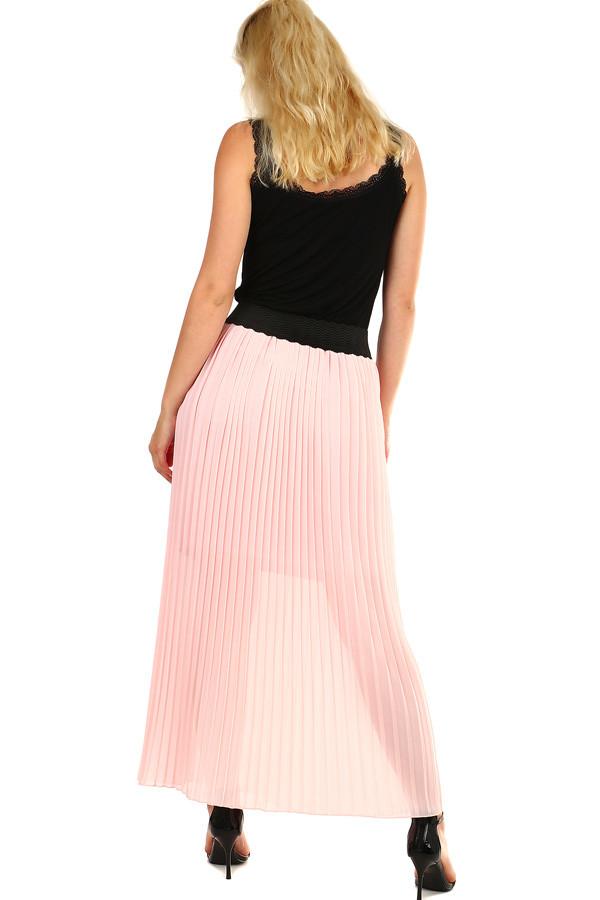 27c504776343 Dámska skladaná plisovaná dlhá sukňa