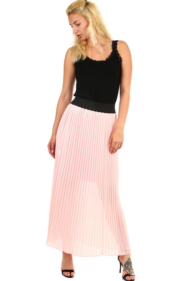 0470d46f3814 Dámska skladaná plisovaná dlhá sukňa