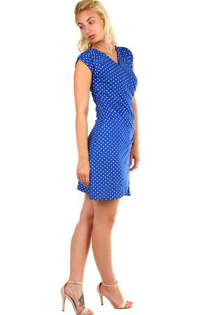 Dámske zavinovacie retro šaty s bodkami 43ae7193202